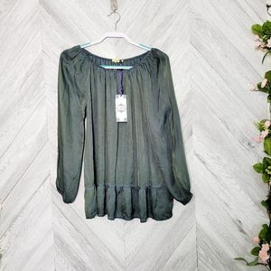 Tempo Paris Silk Blend Dyed Tunic Size Small